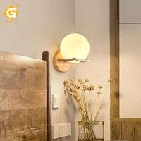 Iluminação interior led arandelas lâmpada de parede moderna nordic sala de jantar estudo luzes parede de madeira montado lâmpada decorativa e27 lâmpadas led