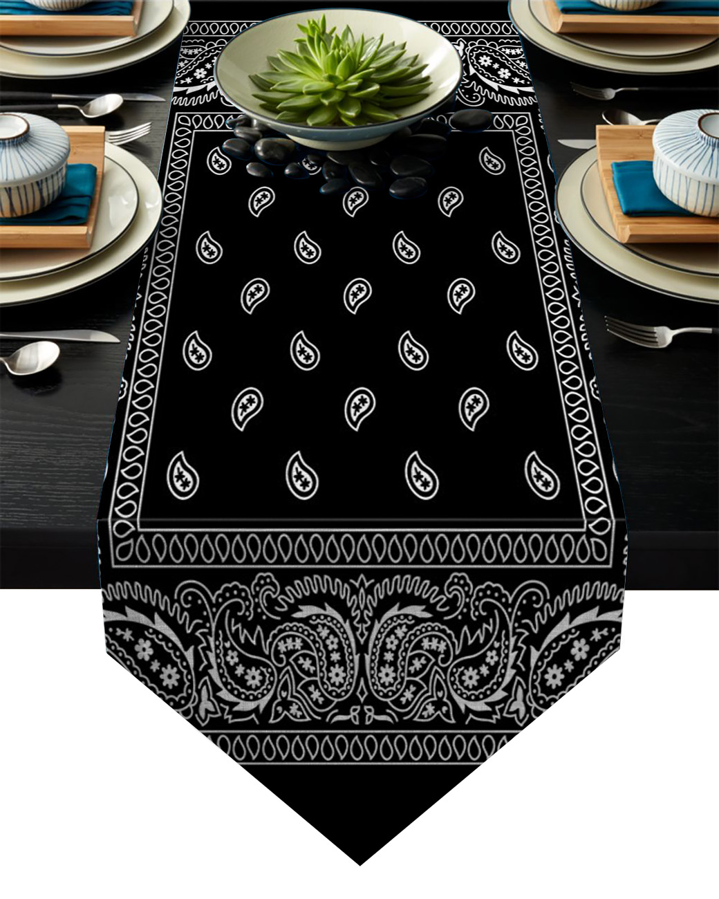 Bandana Pattern Table Runner Table Flag Home Party Decorative Tablecloth Table Runners
