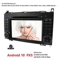 7'' 2 Din CAR Radio DVD GPS navigation for Mercedes Benz B200 A B Class W169 W245 Viano Vito W639 Sprinter W906 Android 10 4+64