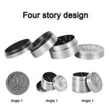 Zinc Alloy 4 Layer Tobacco Cigar Grinder Leaf Magnetic Design Vintage Herbal Herb Grinder Crusher Gadgets Smoking Accessories