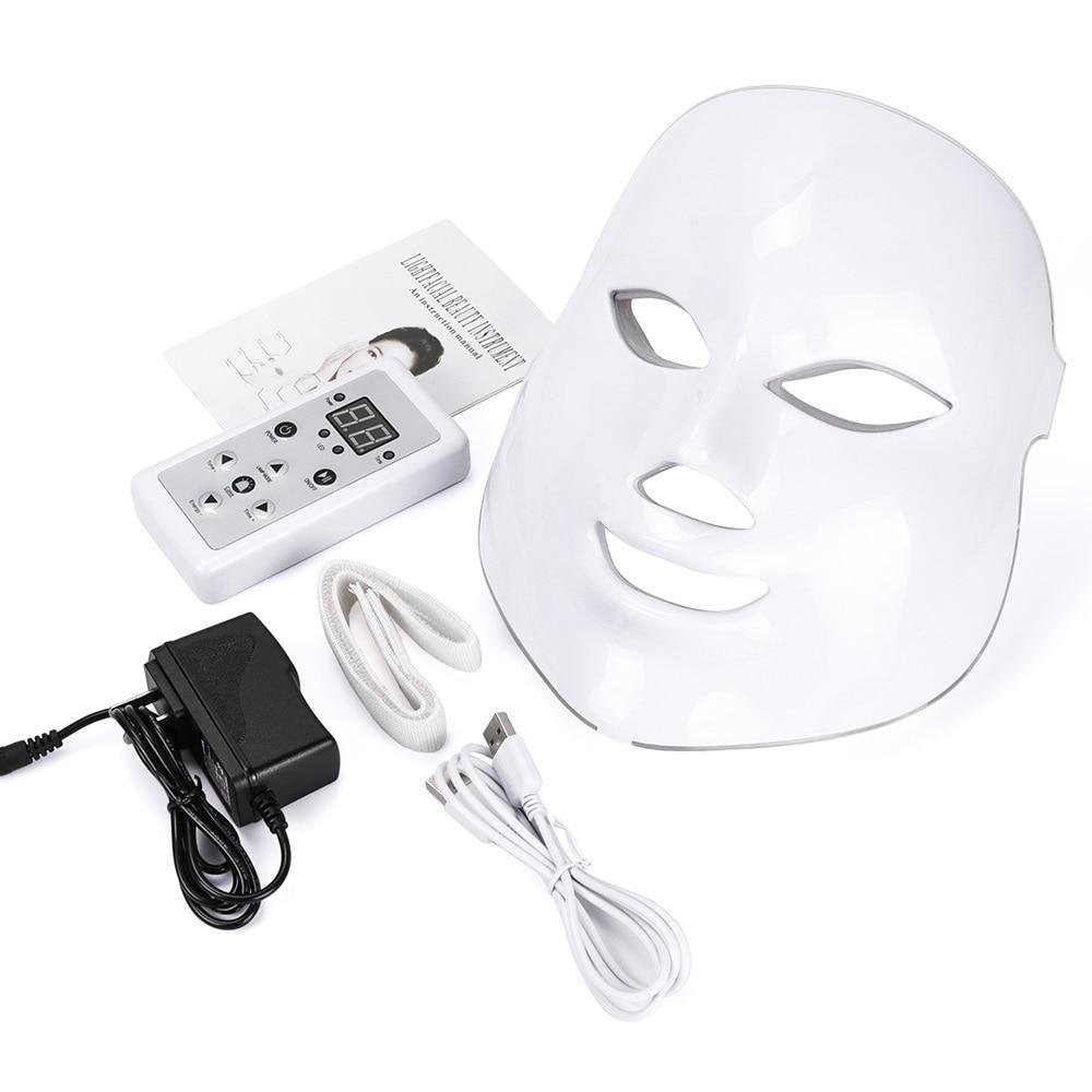 LISM coréen LED photon 7 couleurs masque Facial Mascara lumière thérapie masque beauté soins de la peau acné visage masque Machine masque LED la peau