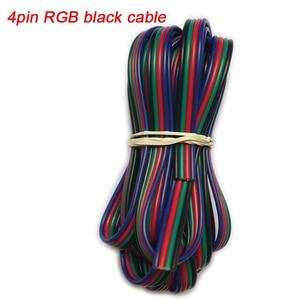 Image 2 - 5 100 5050 medidores 2pin 3pin 4pin 5pin 6pin 22 awg extensão cabo de fio elétrico led conector para ws2812 rgbw rgb cct led stirp