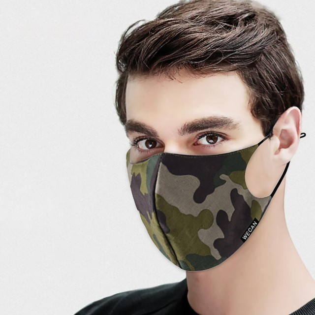Outdoor Reusable Protective Pm2.5 Filter Camouflage Mouth Mask Dust Face Mask Windproof Mouth-muffle Bacteria Proof Flu Mask AP4 2