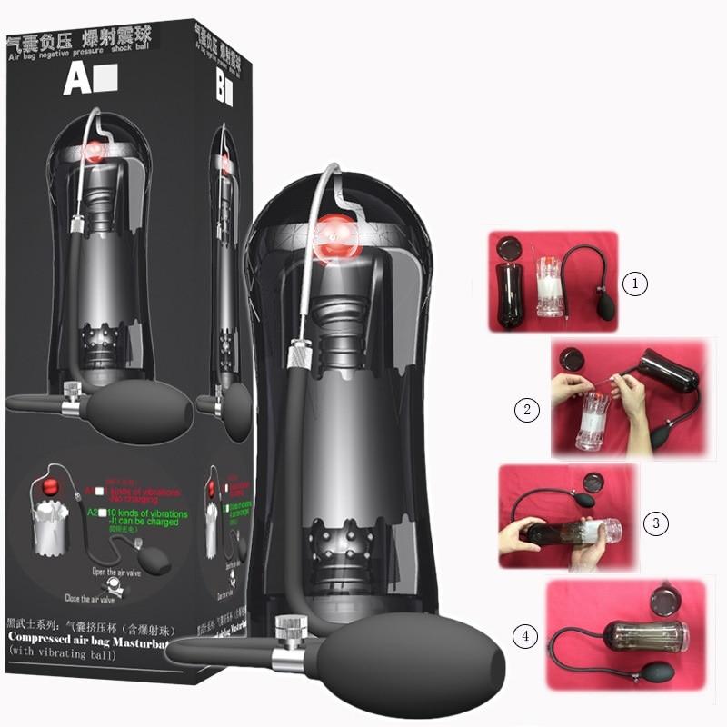 Wireless Remote Masturbation Pump Sex Toys for Man Penis Enlargement Vacuum Pump Male Penis Trainer Adult Sex Toys
