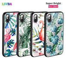 Black Cover Summer Leaf Plants Art for iPhone X XR XS Max for iPhone 8 7 6 6S Plus 5S 5 SE Super Bright Glossy Phone Case black cover japanese art for iphone x xr xs max for iphone 8 7 6 6s plus 5s 5 se super bright glossy phone case