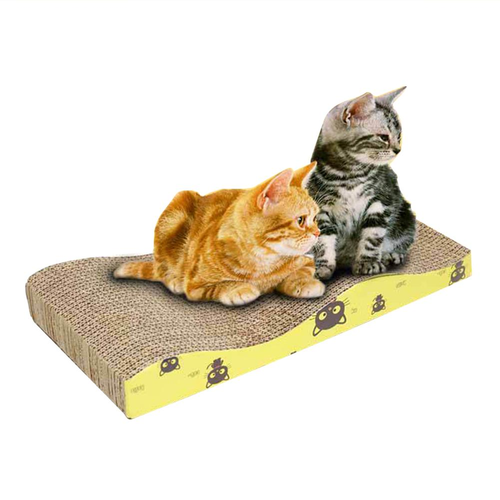 Eco-Friendly Practical Durable Corrugated Paper Cat Claw Plate Cat Scratcher Cardboard Cat Catch Plate Cat Toys with Catnip