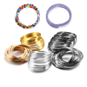 100 Loops/lot 0.6mm Memory Steel Wire For DIY Beading Bracelets Earrings Jewelry Making Finding Accessories Supplies