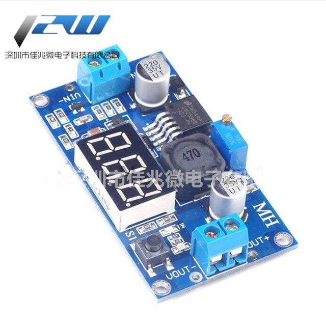 LM2596DC-DC adjustable step-down voltage regulator power module with red 3-digit digital tube display digital display voltmeter