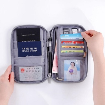 women pu leather passport cover unisex cover on the passport with hasp solid color passport case travel documents card holder Card Holder Case Fashion Travel Passport Wallets Multi Function Travel Accessories Portable Passport Cover Card Holder