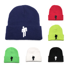 Billie Eilish Embroidery Knitted Beanie Winter Hats For Women Men Caps Solid Color Hip-hop Casual Beanies Bonnet Female Hat цена 2017