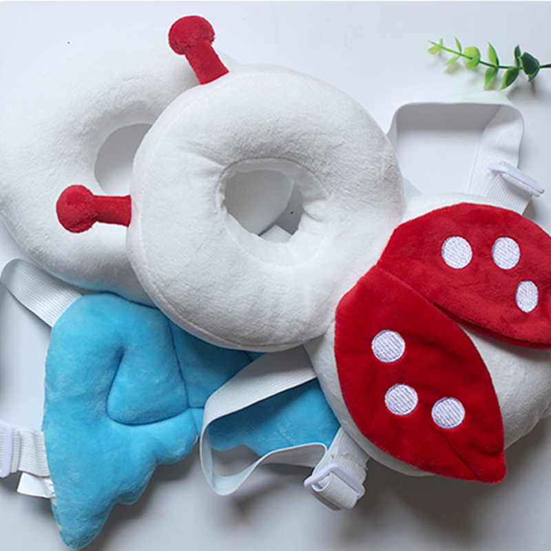 Baby Head Protection Pad Cute Wings 15.5*15.5CM Baby Pillows Baby Toddler Pillow Portable Toddler Headrest Pad