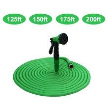 125ft 150ft 175ft 200ft wąż ogrodowy elastyczny elastyczny wąż elastyczny elastyczny wąż do podlewania z dyszą natryskową
