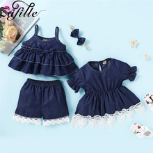 ZAFILLE Toddler Dress Summer 2Pcs Baby Girl Clothes Solid Infant 2020 New Kids Outfits Girls Clothing Baby Suits Children Dress summer infant baby girl ruffle floral dress sundress briefs outfits clothes set children kids new arrival girls clothing