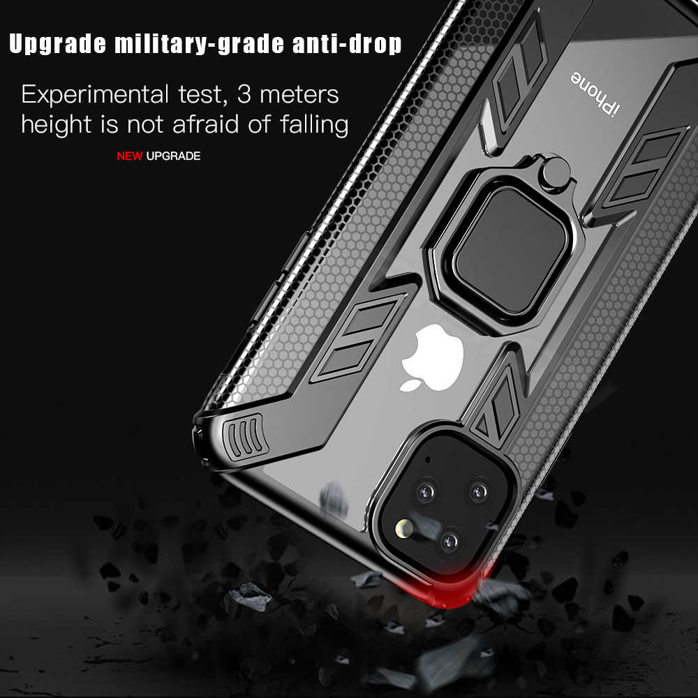 KEYSION 耐衝撃 Iphone 11 11 プロマックス 2019 funda スタンド車リング電話カバー iphone XS 最大 XR × 8 7 プラス