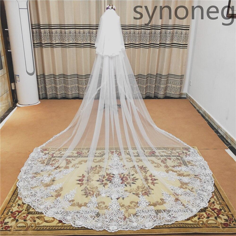 Comb  Custom 4*3M// 5*3M 3M Chapel White// Iovry Wedding Veil Lace Bride Veils