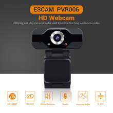 Escam PVR006 Usb Webcam Full Hd 1080P Web Camera Met Noise Cancellation Microfoon Skype Streaming Live Camera Voor Computer(China)