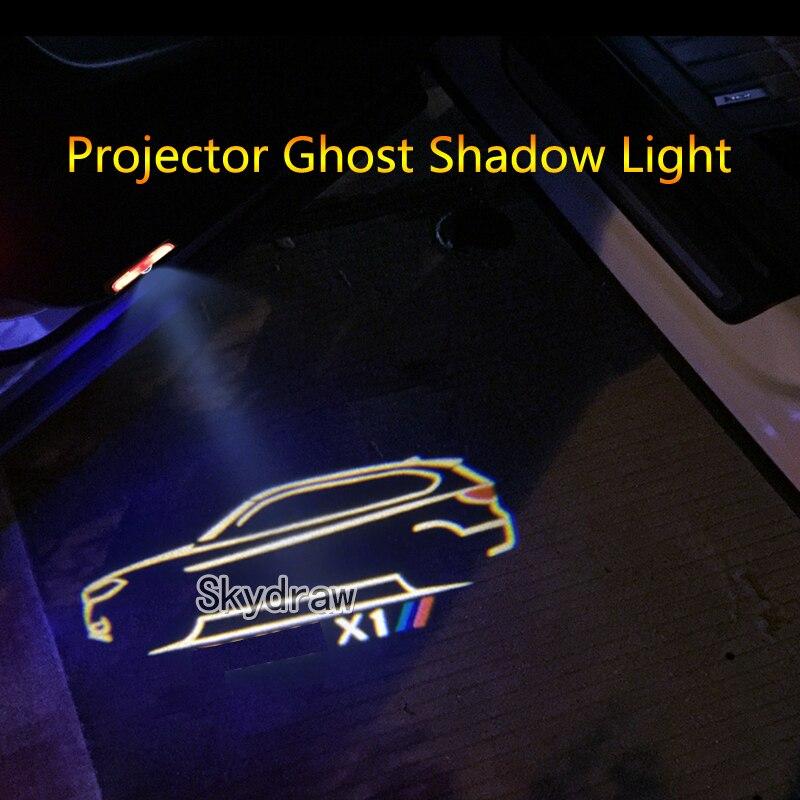 1 пара для X1 F48 F49 E84 (2010-2020) автомобильная светодиодная дверная предупреждающая Лампа проектор призрак тени свет Добро пожаловать Свет