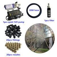 S295 DIY 10M/20M misting system with 10pcs/20pcs nozzles mist water spray 12V pump kits|Sprayers| |  -