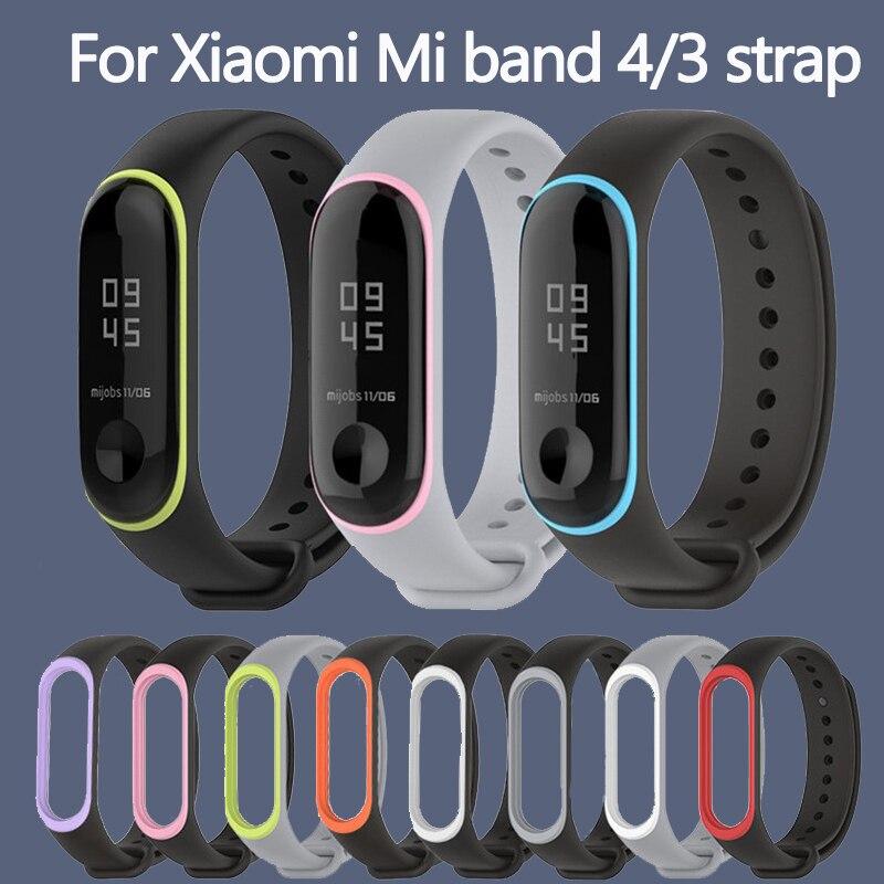 Soft Sport Bracelet For Xiaomi Mi Band 3 4 Strap Watch Silicone Wrist Strap For Xiaomi Mi Band 3 4 Bracelet Miband 4 3 Strap