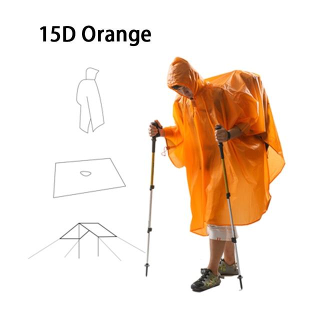 3F UL GEAR Ultralight 15D Poncho Raincoat Outdoor Mini Tarp  2