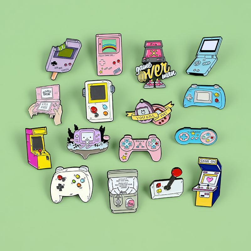 Retro Arcade Game Enamel Pins Collections Cartoon 90s Gamepad Jewelry Brooches Denim Shirt Collar Badge Lapel Pins Friends Gifts 4
