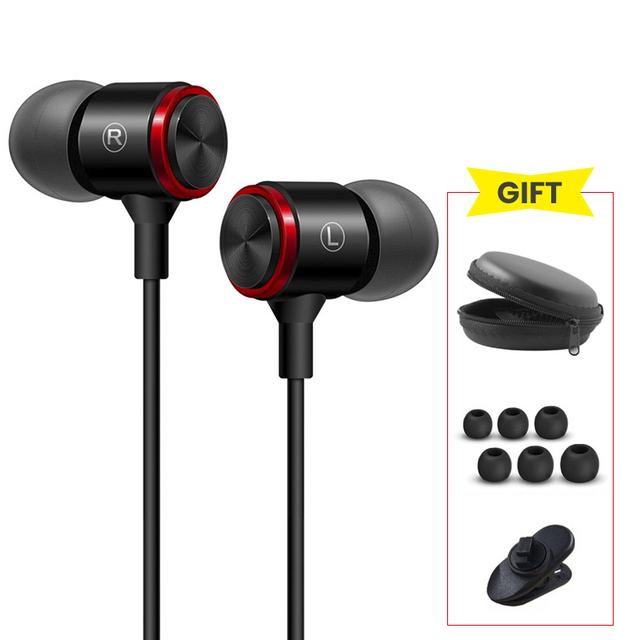 QTOBEI 3.5mm In Ear Earphones Bass Stereo Headset Running Earbuds Wired Headphones Sport Earphone For Xiaomi Redmi Note