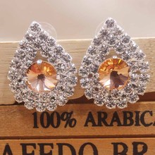 Different colorful shape rhinestone stud Earrings wedding Crystal Earrings Women Excellent masquarde /delicate  jewelry earrings все цены