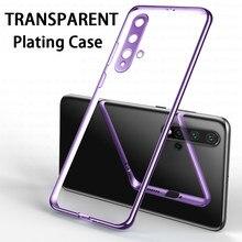 Camera Bumper Clear Telefoon Case Op Voor Huawei Nova 5 T 5z 5i 5 6 5G 7 Se Pro nova5 T I Z Nova5t Nova6 Nova7 6se 7se Soft Tpu Cover