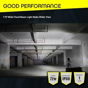 Image 5 - LED samochodów robocza listwa oświetleniowa 5 Cal 72 W podwójny rząd 6000 K Offroad 4x4 jazdy światła 12 V przeciwmgielne światła do ciągnika ciężarówka łodzi UTV SUV u nas państwo lampy