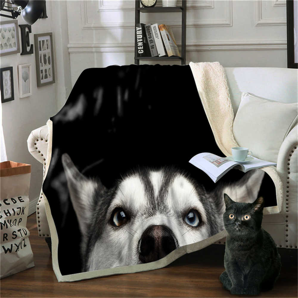 Christmas Fleece Blankets and Throws Winter Warm Flannel Bed Cover Nordic Sofa Throw Kids Gift Pet Dog Cat 3D Printed Blanket
