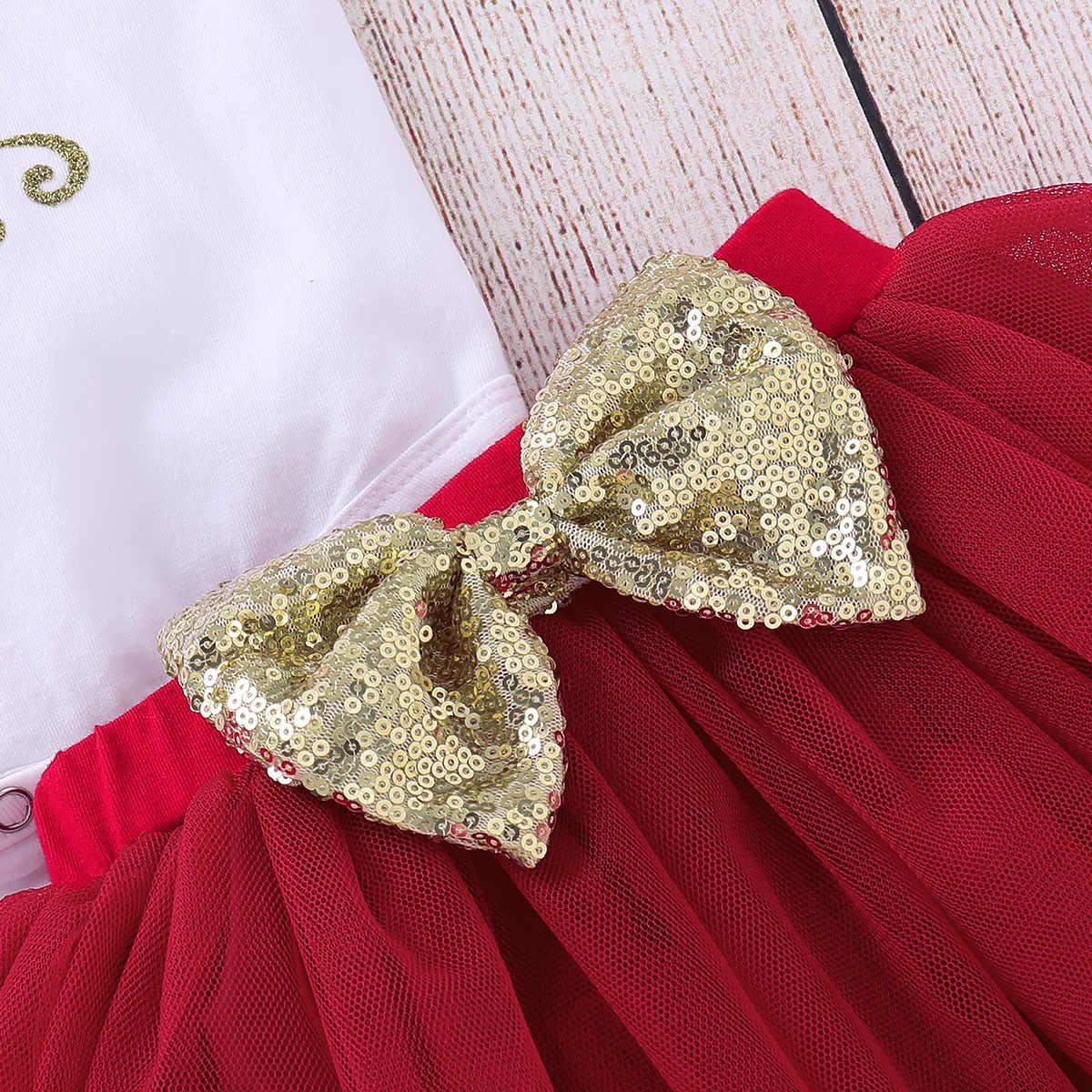 Hot Koop Carters Baby Meisje Outfits Baby Meisje Kleding Leuke Bodysuit + Gelaagdheid Rok + Knie Pads Mijn Eerste Kerst meisje Kleding D40