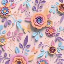 Paper Flower Backdrop Photography Newborn Baby Birthday Party Decoration Photo Background Photocall Custom For Studio