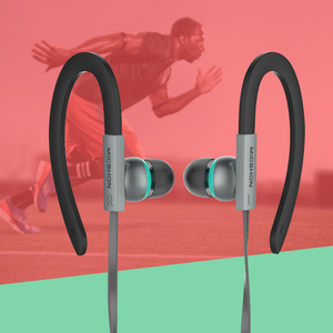 Image 2 - Sports Headphones With MIC HIFI 3.5mm In Ear Earphones Ear Hook Headset Noise Cancelling Earbuds For Meizu Xiaomi Huawei iPhone