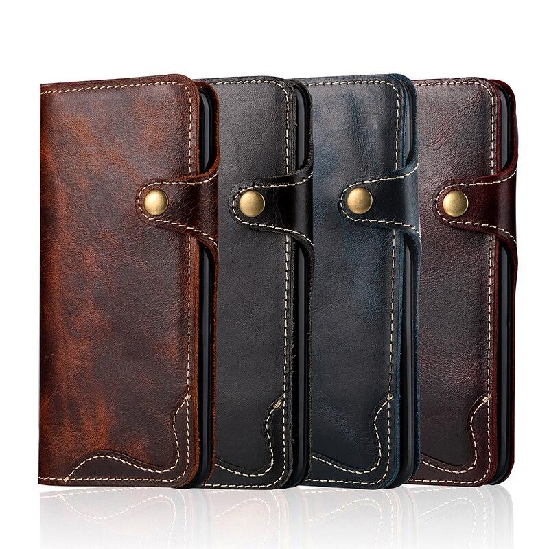 Retro vintage äkta kuskläder plånbokväska Flip Cover med pengar - Reservdelar och tillbehör för mobiltelefoner - Foto 6