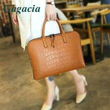 GAGACIA Braun Leder Schulter Tasche Für Frauen Laptop Arbeit Taschen Designer Für Büro Damen Luxus Handtaschen Aktentasche Bolsos Mujer