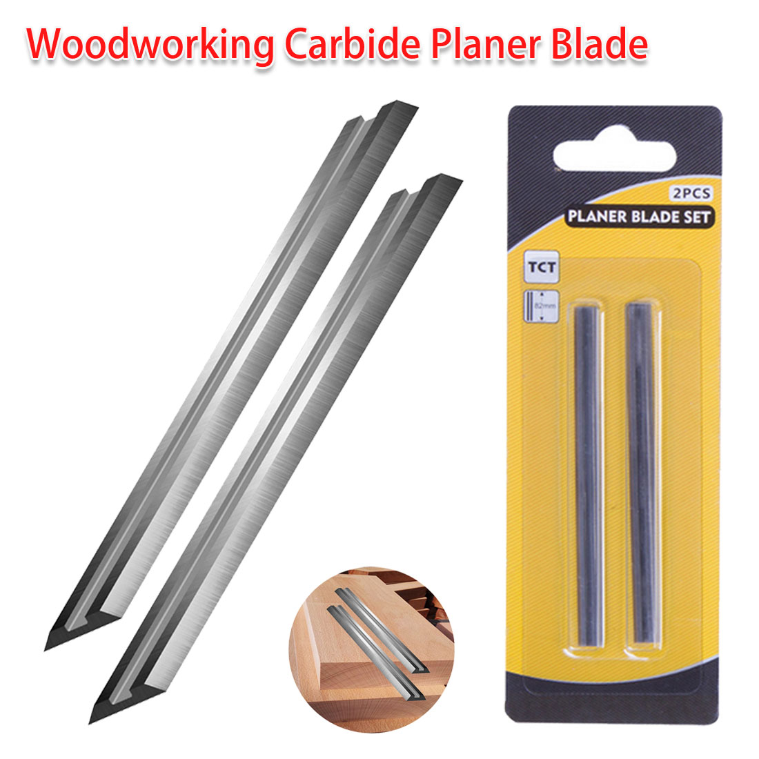 Portable Carbide Planer Blade Reversible Wood Planer Knife For Woodworking Machinery Parts Electric Planer Blade 82x5.5x1.2mm