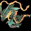 HA CONDOTTO LA Luce di Notte 3D Pokemon Mega Rayquaza Figure Del Fumetto Lampada Da Tavolo Pokeball Fermacarte Di Cristallo Regali di Compleanno