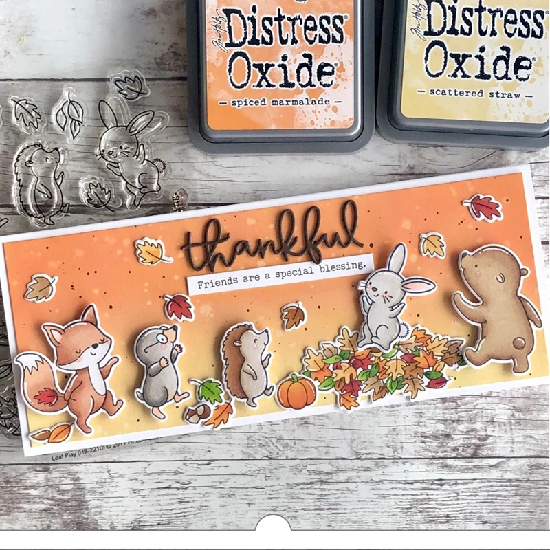 2019 New Metal <font><b>Cutting</b></font> <font><b>Die</b></font> <font><b>and</b></font> In Scrapbooking For Paper Making <font><b>Christmas</b></font> Squirrel Fox Hedgehog Embossing Frame Card <font><b>Stamp</b></font> Set image