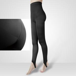 Image 1 - נשים רפואי דק רגל לחץ מפולח גרביונים רגל צעד חזק ישבן וגרביונים צורה ולהרים שלך ירכי S M L XL