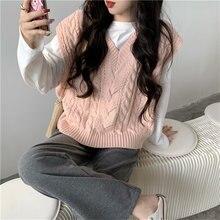 Женские свободные короткие жилеты осенние корейские Повседневные
