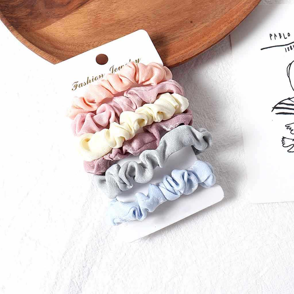 Ladies Cute Color Cloth Hair Ring Simple Hair Rope Girl Hair Accessories Chouchou Cheveux Femme Hair Accessories For Women