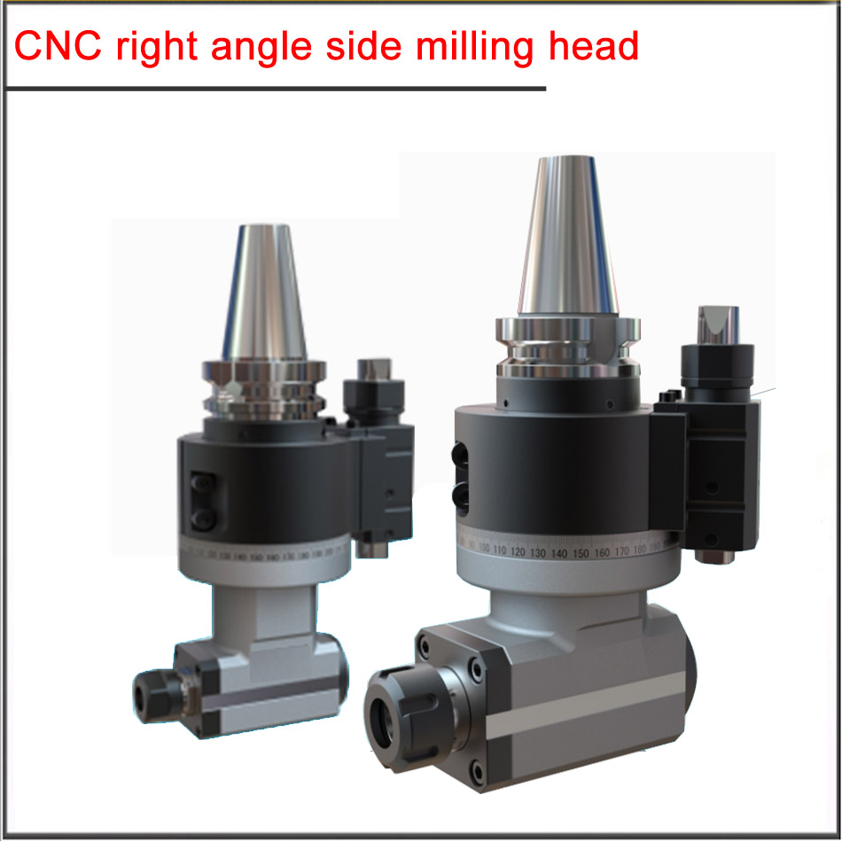 BT40 BT50-AG90-ER16  20 32 40 CNC side milling head right angle head BT40 BT50 transverse milling head 90 degree angle head