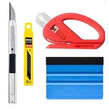 4 pz/set strumento di lamina per Auto pellicola per avvolgere il vinile Kit di strumenti per avvolgere Auto adesivo per Auto feltro tergipavimento raschietto Snitty Cutter Car Styling