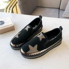 Sneaker Footwear Vulcanized-Shoes Spring Slip On Flat Autumn Women Crystal Soft Casual