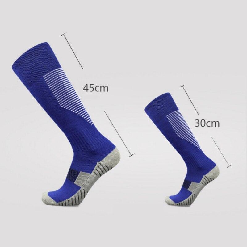 Adult Kids Professional Sports Soccer Socks Non-slip Knee High Football Sock Sweat-absorbing Breathable Training Running Socks