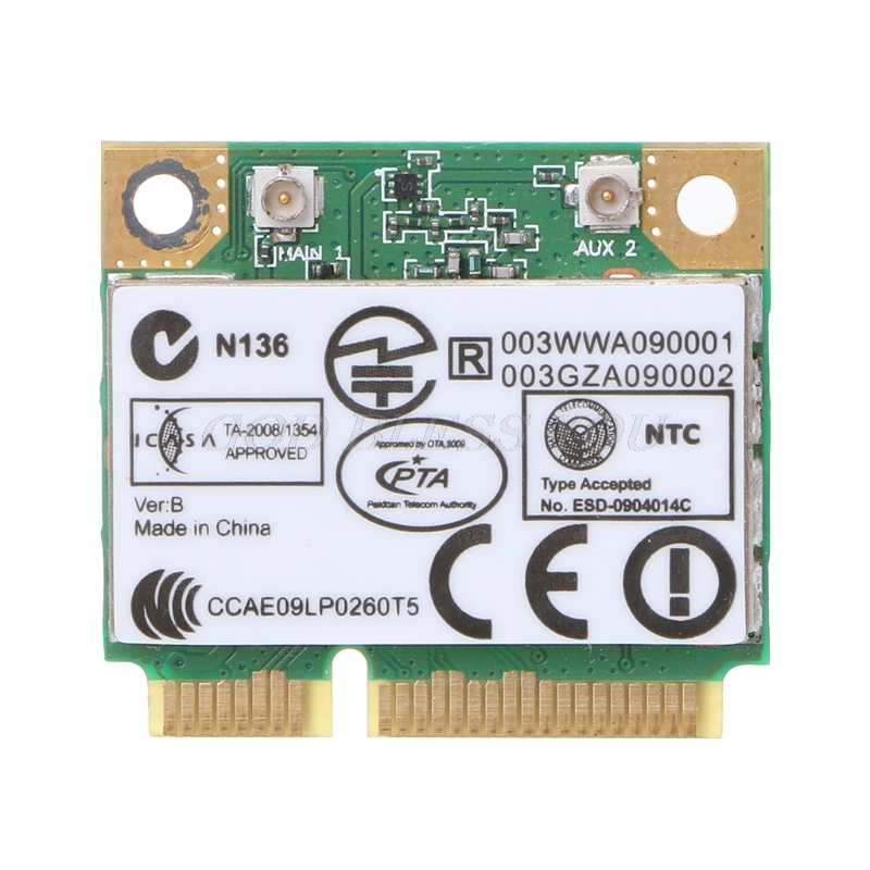 AR5B93 AR9283 Half Height Mini PCI-E Wireless Wlan WiFi Card 300Mpbs For Atheros image