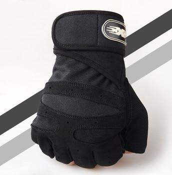 Men Fitness Heavyweight Training Gloves Bodybuilding Half Finger Gloves Non-Slip Extended Wrist Support Weightlifting Sports 2