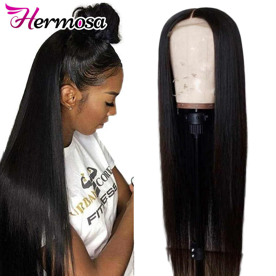13x4 Lace Front Human Hair Wigs For Women Pre Plucked Remy Brazilian Straight Lace Frontal Wig With Baby Hair Bleached Knots