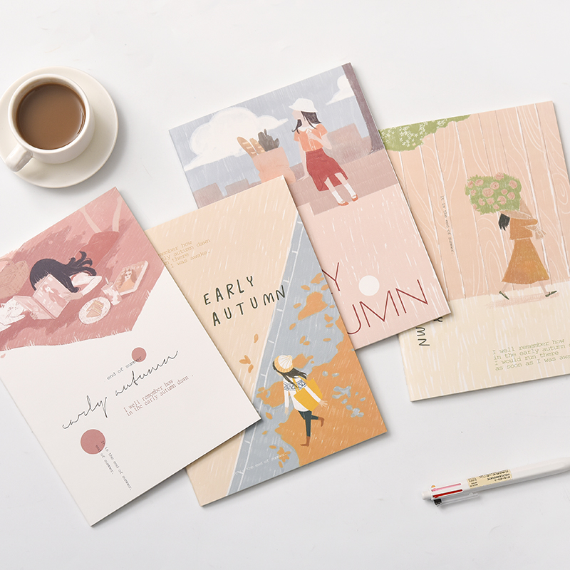 10pcs/set A5 Notebook Kawaii Cute Flowers Birds Animal Notebook B5 Painting of Diary Book Journal Record Office School Supplies