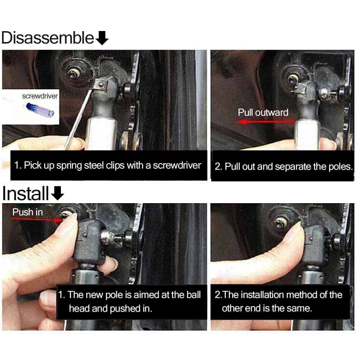 Amortiguador de gas Cap/ó trasero Compuerta trasera Amortiguadores de gas Levantadores de soporte de resorte for Boxster 97-04 98651295100